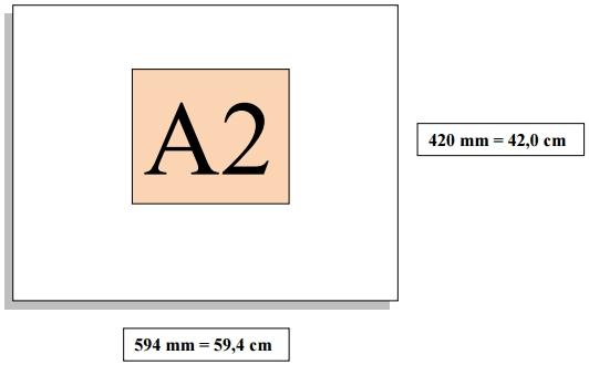 Dimensioni foglio A2